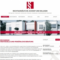 Preview neue Homepage Rechtsanwälte Dr. Schmidt und Kollegen - © Rechtsanwälte Dr. Schmidt und Kollegen